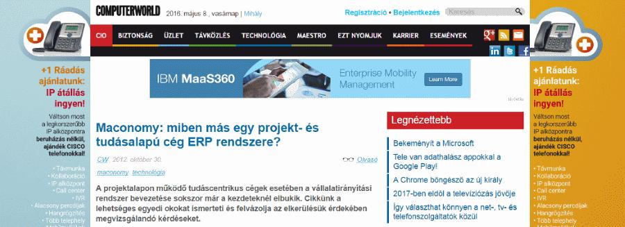 ERP rendszer kiválasztás projekt alapú cégeknek cikk a Techcorner magazinban