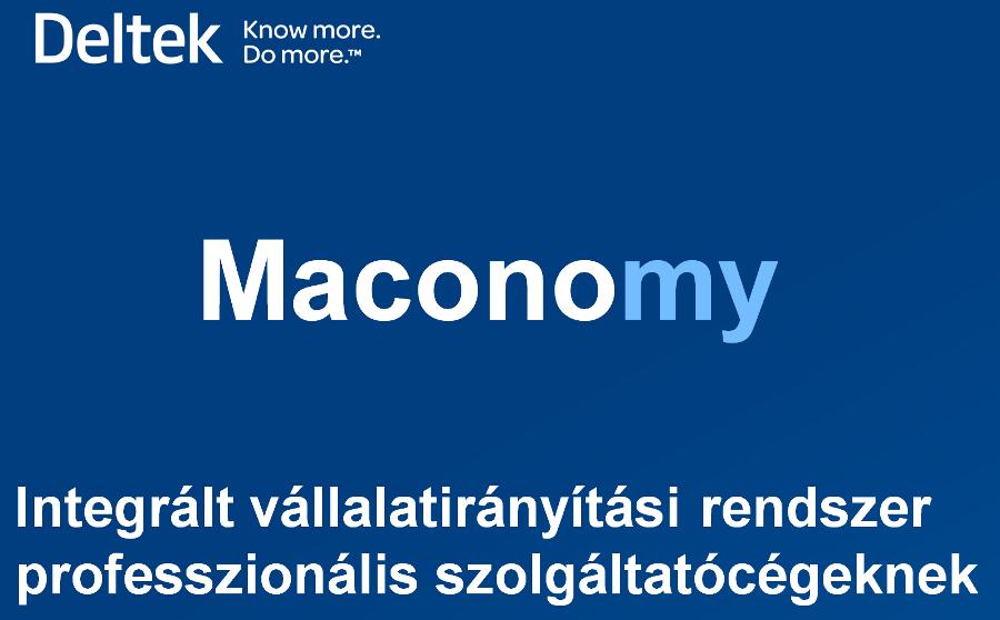 Maconomy ERP rendszer bemutató