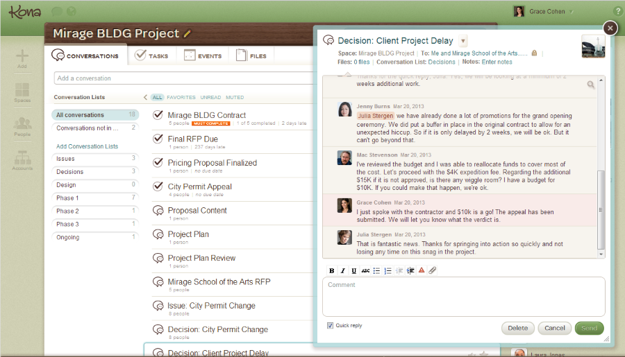 Projekt kollaboráció Maconomy ERP