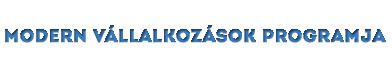 modern vállalkozások programja logó