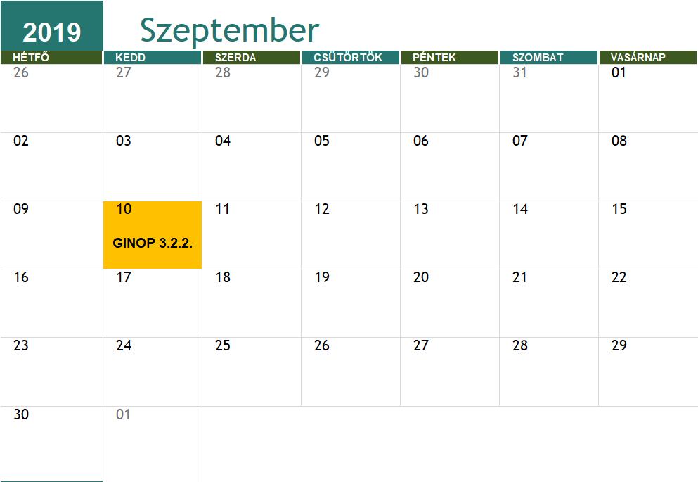 GINOP 3.2.2. határidő