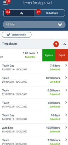 Maconomy 2.5.1 verzió Touch kliens